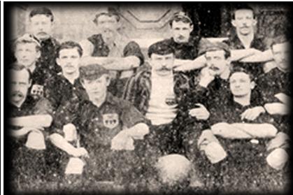 Αναμνηστική φωτογραφία από τον αγώνα Χάλαμ-Σέφιλντ (26/12/1860)